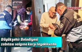 Büyükşehir Belediyesi zabıtası salgına karşı...