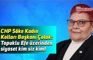 CHP Söke Kadın Kolları Başkanı Çolak: Topuklu...