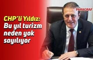CHP'li Yıldız: Bu yıl turizm neden yok sayılıyor