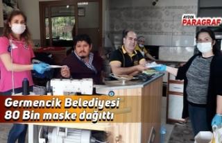 Germencik Belediyesi 80 Bin maske dağıttı