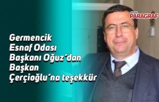Germencik Esnaf Odası Başkanı Oğuz'dan Başkan...
