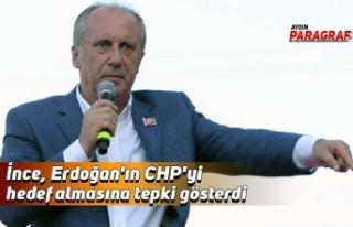 İnce, Erdoğan'ın CHP'yi hedef almasına...