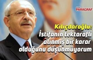 Kılıçdaroğlu, Soylu'nun istifasını değerlendirdi