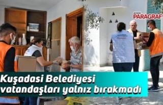 Kuşadasi Belediyesi vatandaşları yalnız bırakmadı