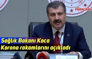 Sağlık Bakanı Koca korona rakamlarını açıkladı
