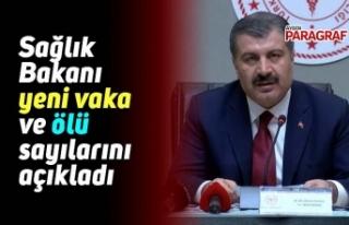 Sağlık Bakanı yeni vaka ve ölü sayılarını...