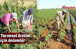 Tarımsal üretim için önlemler