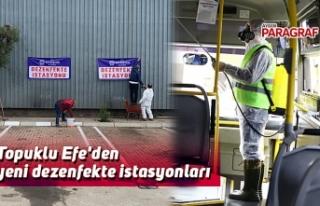 Topuklu Efe'den yeni dezenfekte istasyonları