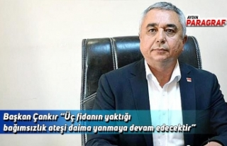 """Başkan Çankır """"Üç fidanın yaktığı bağımsızlık..."""