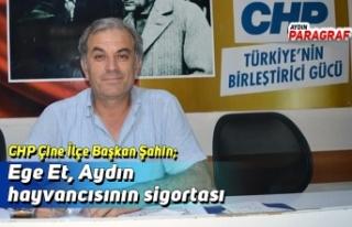 CHP Çine İlçe Başkan Şahin; Ege Et, Aydın hayvancısının...