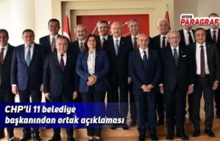 CHP'li 11 belediye başkanından ortak açıklaması