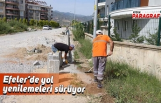 Efeler'de yol yenilemeleri sürüyor