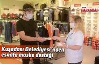Kuşadası Belediyesi'nden esnafa maske desteği