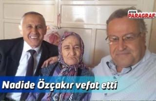 Nadide Özçakır vefat etti