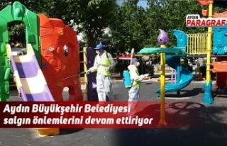 Aydın Büyükşehir Belediyesi salgın önlemlerini...