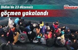 Didim'de 23 düzensiz göçmen yakalandı