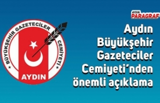 Aydın Büyükşehir Gazeteciler Cemiyeti'nden önemli...
