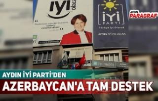 AYDIN İYİ PARTİ'DEN AZERBAYCAN'A TAM...