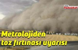 Metrolojiden toz fırtınası uyarısı