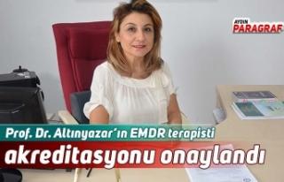 Prof. Dr. Altınyazar'ın EMDR terapisti akreditasyonu...