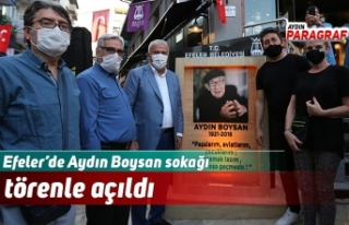 Aydın Boysan sokağı törenle açıldı