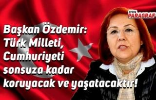 Başkan Özdemir: Türk Milleti, Cumhuriyeti sonsuza...
