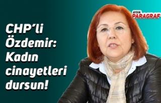 CHP'li Özdemir: Kadın cinayetleri dursun!