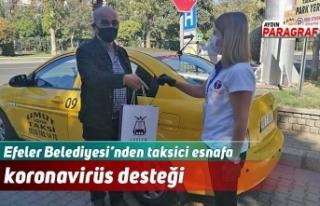 Efeler Belediyesi'nden taksici esnafa koronavirüs...