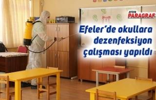 Efeler'de okullara dezenfeksiyon çalışması yapıldı