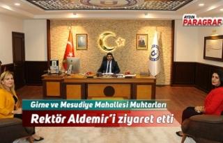 Girne ve Mesudiye Mahallesi Muhtarları Rektör Aldemir'i...