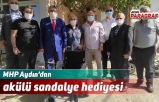 MHP Aydın'dan akülü sandalye hediyesi