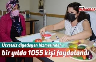 Ücretsiz diyetisyen hizmetinden bir yılda 1055 kişi...