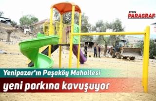 Yenipazar'ın Paşaköy Mahallesi yeni parkına...