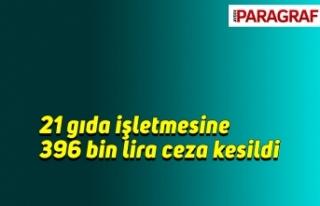 21 gıda işletmesine 396 bin lira ceza kesildi