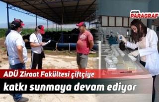 ADÜ Ziraat Fakültesi çiftçiye katkı sunmaya devam...
