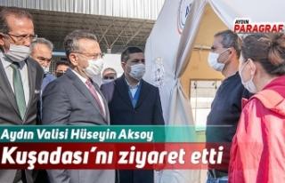 Aydın Valisi Hüseyin Aksoy Kuşadası'nı ziyaret...