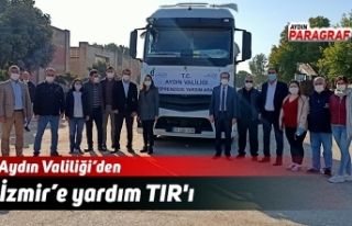 Aydın'dan İzmir'e yardım TIR'ı