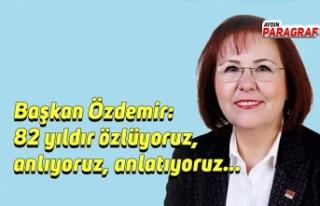 Başkan Özdemir: 82 yıldır özlüyoruz, anlıyoruz,...