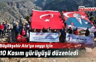Büyükşehir Ata'ya saygı için 10 Kasım yürüyüşü...