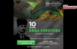 Büyükşehir'den 10 Kasım Doğa Yürüyüşü