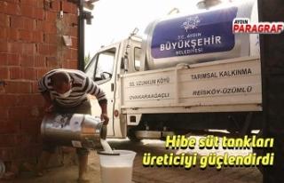 Hibe süt tankları üreticiyi güçlendirdi