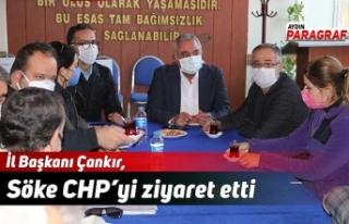 İl Başkanı Çankır, Söke CHP'yi ziyaret etti