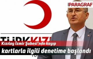 Kızılay İzmir Şubesi'nde kayıp kartlarla ilgili...