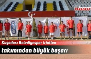 Kuşadası Belediyespor triatlon takımından büyük...