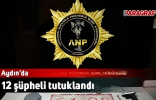 12 şüpheli tutuklandı