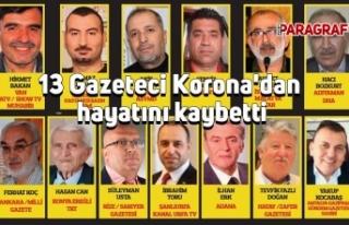13 Gazeteci Korona'dan hayatını kaybetti