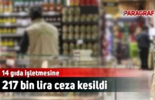 14 gıda işletmesine 217 bin lira ceza kesildi