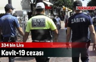 334 bin 970 Lira Kovit-19 cezası