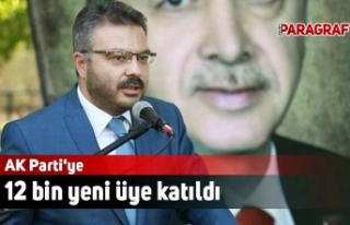 AK Parti'ye 12 bin yeni üye katıldı