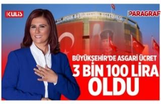 Aydın Büyükşehir'de asgari ücret 3 bin 100...